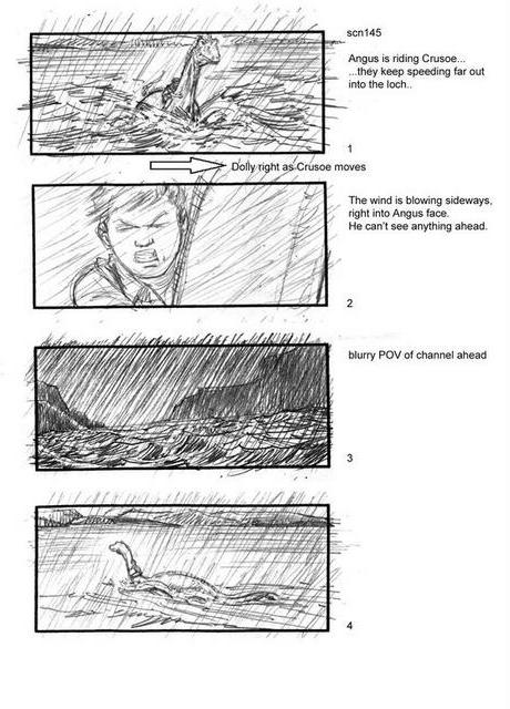 The Water Horse Storyboard