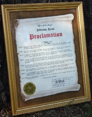 Texas Bigfoot Weekend Proclamation