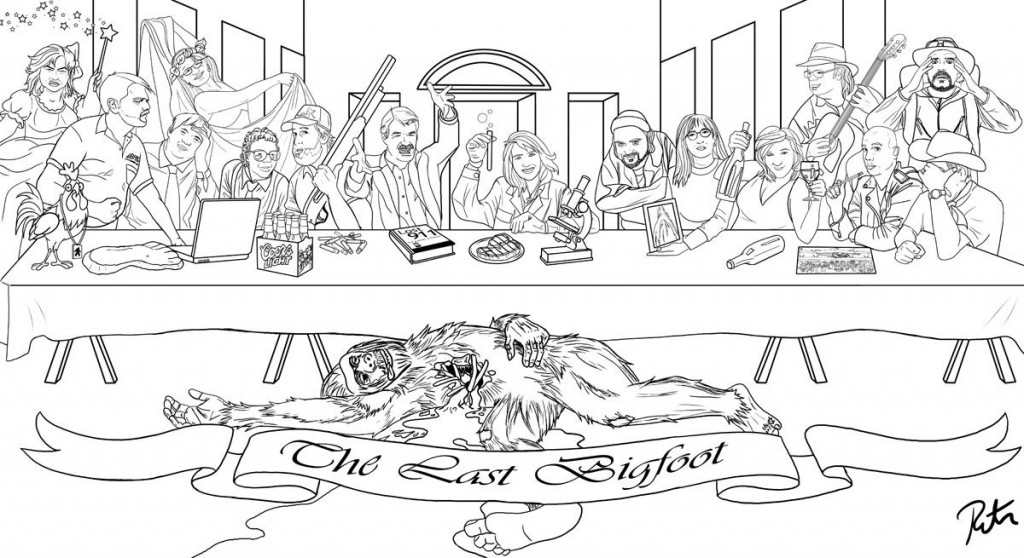 bigfoot coloring page - kentucky bigfoot coloring pages