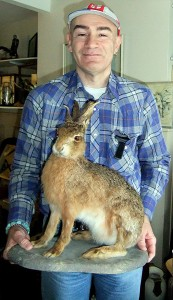 Dr Karl Shuker and his horned hare