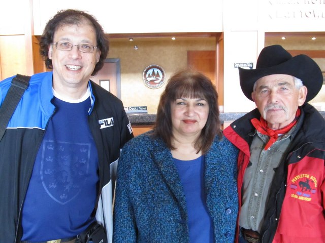 British Columbia Scientific Cryptozoology Club President John Kirk, his lovely wife Paula and Bob Gimlin. Photo credit Tom Yamarone