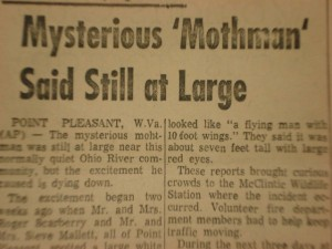 the mothman essay Mothman essay the mothman the mothman legend centers around a horrific event that took place in point pleasant, west virginia on december 15, 1967 on that cold december evening, at around 4 pm, the us highway 35 bridge, known as the silver bridge, collapsed.