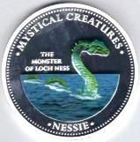 Cook Islands Nessie multi-colored silver-plated 1 Dollar coin